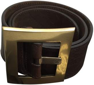 Roberto Cavalli Brown Leather Belts