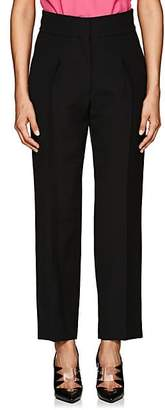 CALVIN KLEIN 205W39NYC Women's Wool-Silk Crepe Crop Trousers - Black