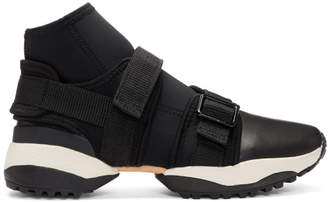 Y's Ys Black Neo Plain High-Top Sneakers