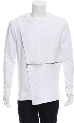Hood by Air Layered Asymmetrical-Zip Sweatshirt