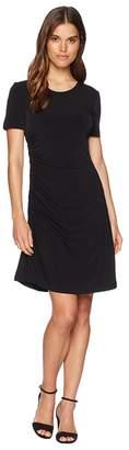 Catherine Malandrino Nan Short Sleeve Side Ruched Tee Dress Women's Dress