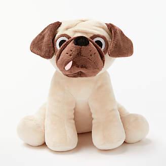 John Lewis Pug Plush Soft Toy, Brown