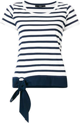 Steffen Schraut striped T-shirt with bow detail