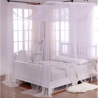 Willa Arlo Interiors Kaneshiro Crystal Sheer Panel Bed Canopy