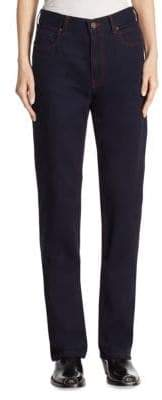 Calvin Klein High-Rise Straight Cotton Jeans