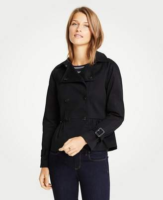 Ann Taylor Petite Peplum Trench Jacket