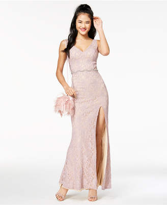 Macy's City Studios Juniors' Embellished Lace Gown, Created for