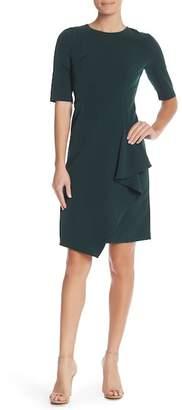Maggy London Short Sleeve Asymmetrical Dress