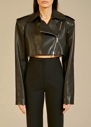 KHAITE The Eduarda Jacket in Black Leather