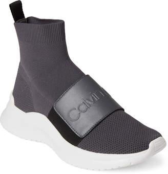 0563ec8a42c60b Calvin Klein Steel Grey Uni Stretch Knit Sneakers