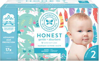 The Honest Company Painted Feathers/Bunnies Size 2 Club Box Diapers