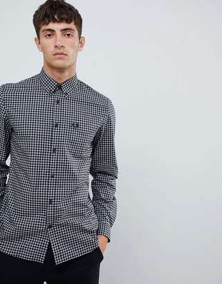 Fred Perry classic gingham shirt in black