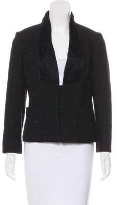 Valentino Collarless Textured Blazer