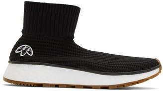 adidas by Alexander Wang Black Run Clean High-Top Sneakers