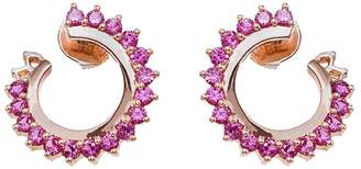 Vendome Aoyama Nouvel Heritage Pink Sapphire Hoop Earrings - Rose Gold
