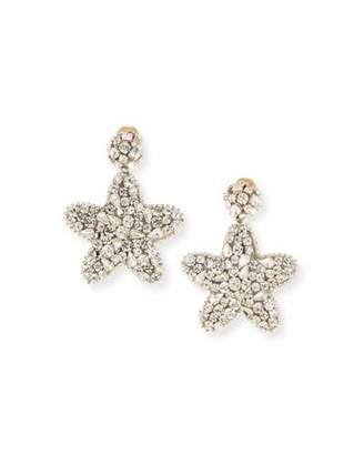 Oscar de la Renta Crystal Star Clip-On Earrings