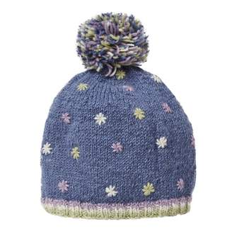 Joe Browns Blue Embroidered Wool Bobble Hat