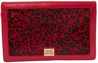 Loewe Red Pony-style calfskin Clutch Bag