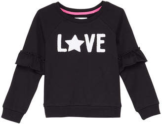 Epic Threads Little Girls Ruffle-Trim Sweatshirt, Created for Macy's