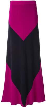 LAYEUR colour-block skirt