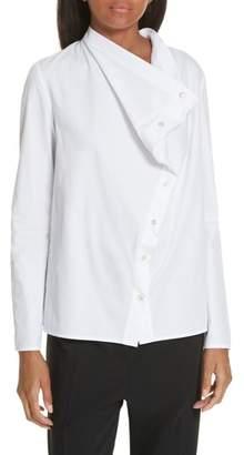 Ji Oh Jay Asymmetrical Cotton Poplin Shirt