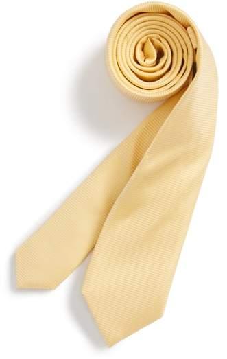 Pinstripe Solid Silk Tie