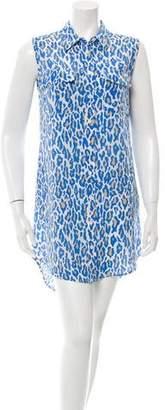 Equipment Leopard Print Silk Dress w/ Tags