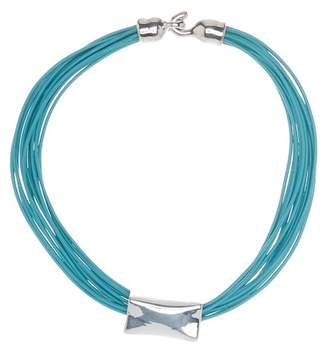 Simon Sebbag Sterling Silver & Leather Strand Necklace