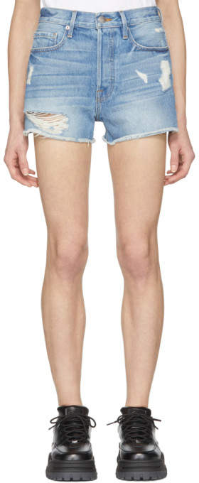 Blue Rigid Re-release le Original Denim Shorts