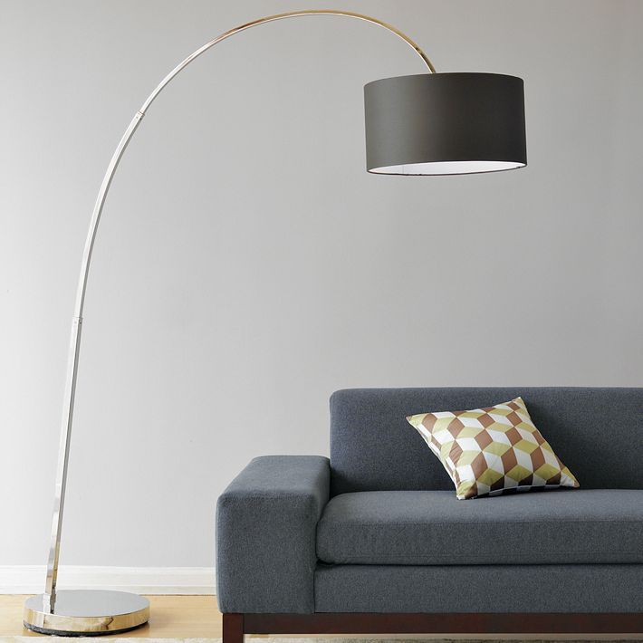 west elm Overarching Floor Lamp - Charcoal