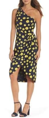 J.Crew J. CREW Polka Dot One-Shoulder Silk Dress