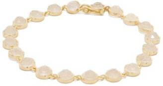 Irene Neuwirth Rainbow Moonstone & 18kt Gold Bracelet - Womens - White