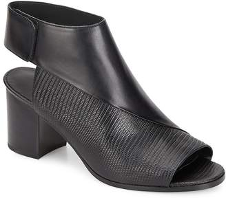 Vince Women's Julianna Smooth Leather & Lizard-Embossed Leather Mules