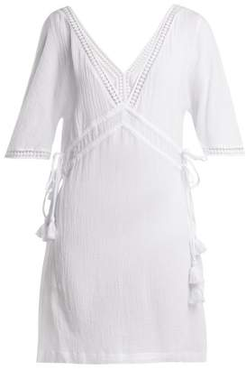 Heidi Klein Moorea Lace Trimmed Cotton Shirtdress - Womens - White