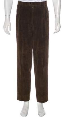 Valentino Corduroy Straight-Leg Pants
