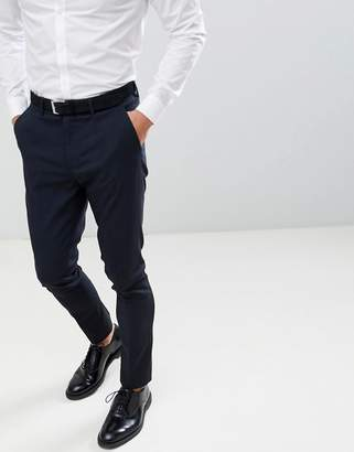 New Look skinny suit trousers in navy