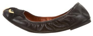 Marc by Marc Jacobs Ponyhair-Trimmed Leather Flats $75 thestylecure.com