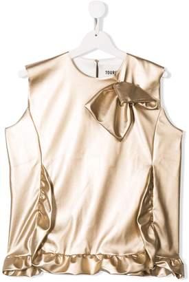 Touriste sleeveless ruffled blouse