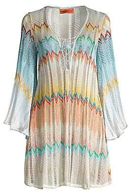 Missoni Mare Women's Short Bell Sleeve Open Knit Coverup