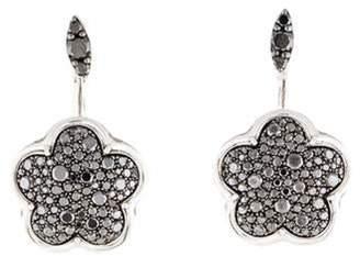 Pasquale Bruni 18K Diamond Flower Drop Earrings white 18K Diamond Flower Drop Earrings