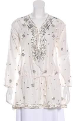 Juliet Dunn Semi-Sheer Sequin Tunic