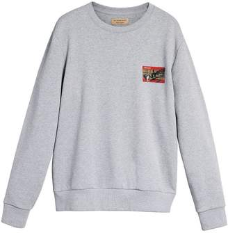 Burberry Graffitied Ticket Print Sweatshirt