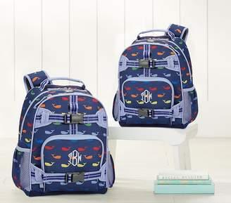 Pottery Barn Kids Large Backpack, Mackenzie Navy/Blue Multi Whale