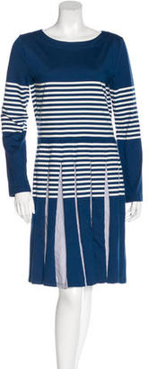 Boy. by Band of Outsiders Striped Pleated Dress w/ Tags $125 thestylecure.com