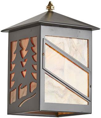 Rejuvenation Entry Sconce w/ Tree Motif & Art Glass