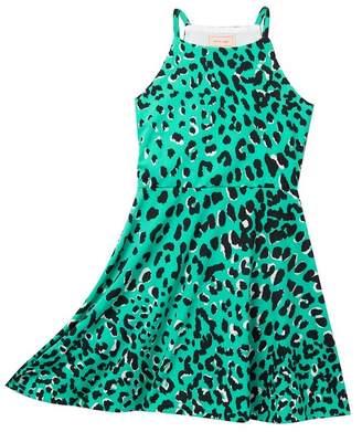 Love...Ady Leopard Print Skater Dress (Big Girls)