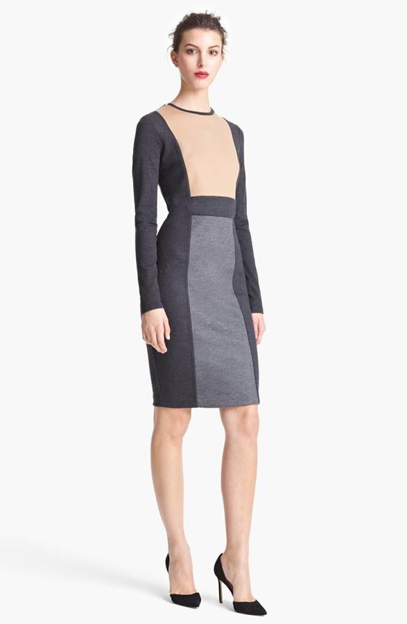 Max Mara Colorblock Wool Jersey Dress
