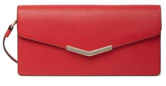 Time's Arrow Demi Leather Clutch
