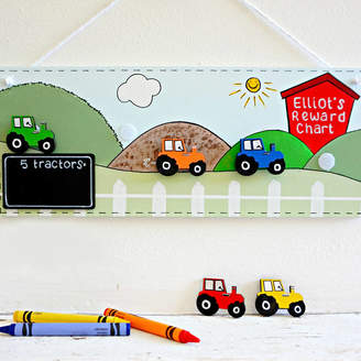 Craftly Personalised Tractor Reward Chart