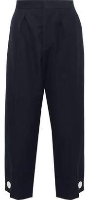 Marni Button-Detailed Wool-Twill Wide-Leg Pants